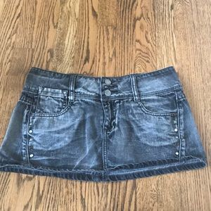 Grey studded jean skirt size FIVE